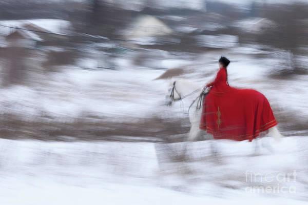 Horse Hunt #8025 Art Print