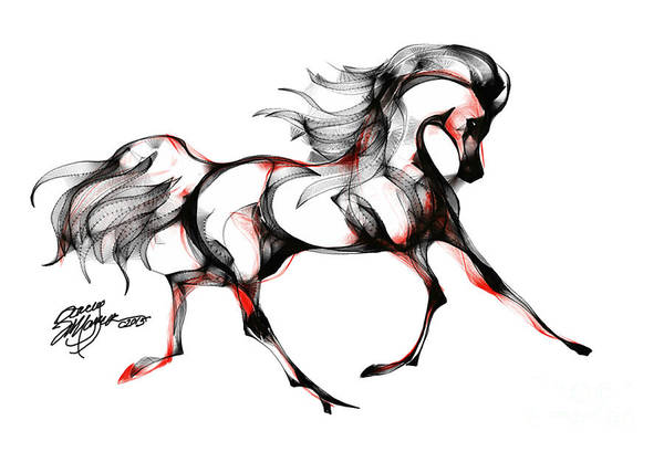 Digital Art - Horse In Extended Trot by Stacey Mayer