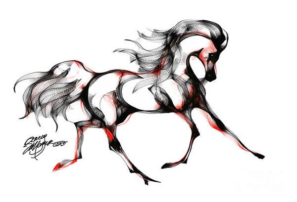 Horse In Extended Trot Art Print
