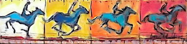 Painting - Horse In Motion 1 by Les Leffingwell