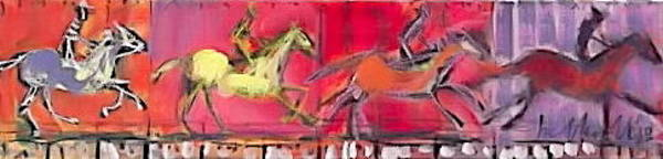 Painting - Horse In Motion 2 by Les Leffingwell