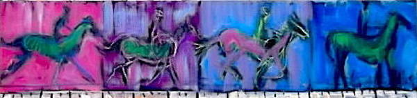 Painting - Horse In Motion 3 by Les Leffingwell