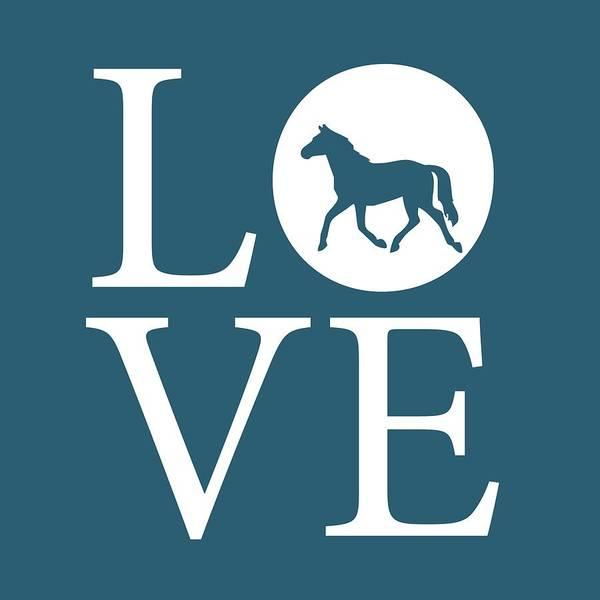 Digital Art - Horse Love by Nancy Ingersoll