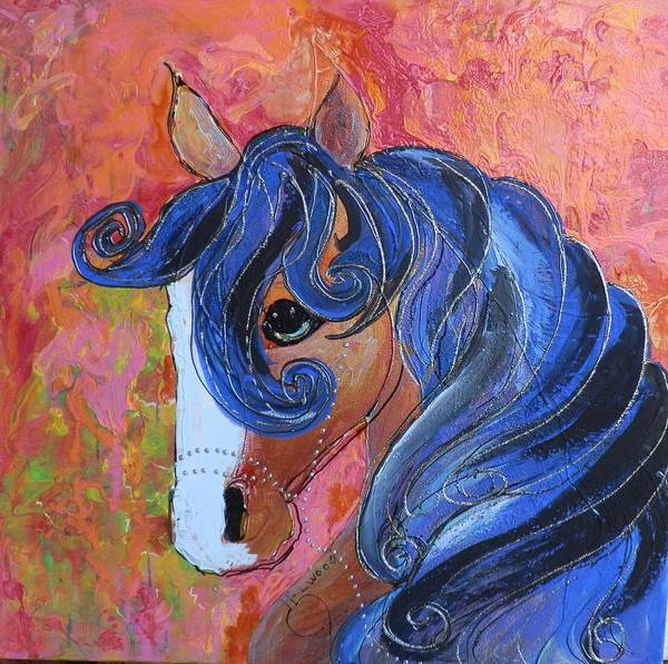Elwood Blues Painting - Horse Of A Different Color by Jann Elwood