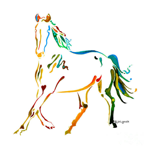 Painting - Horse Of Many Colors - 2 by Jo Lynch