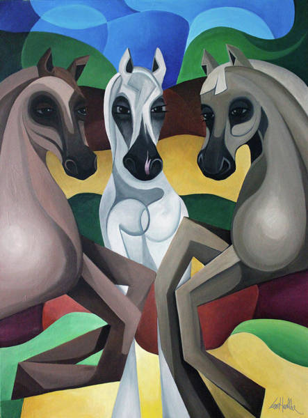 Painting - Horse Play by Lance Headlee