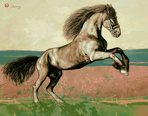 Mammal Mixed Media - Horse Pop Art Poser by Kim Wang