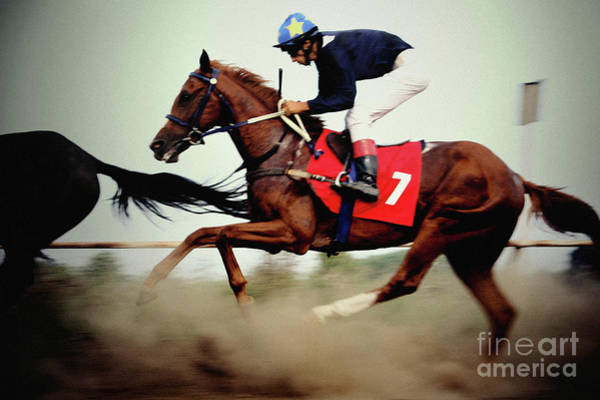 Photograph - Horse Race - Motion Blurred Art Photography by Dimitar Hristov