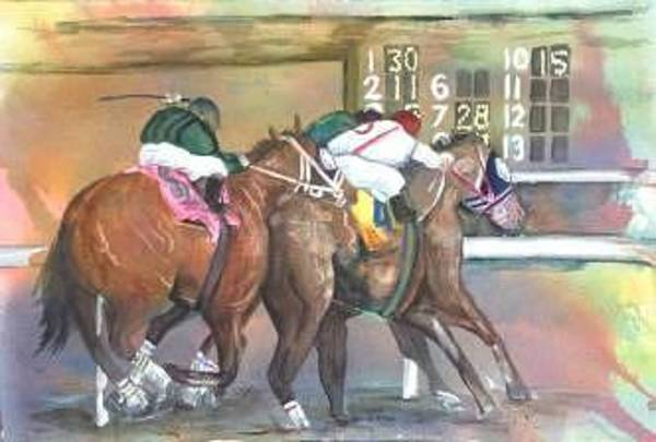 Painting - Horse Races by Diane Ziemski