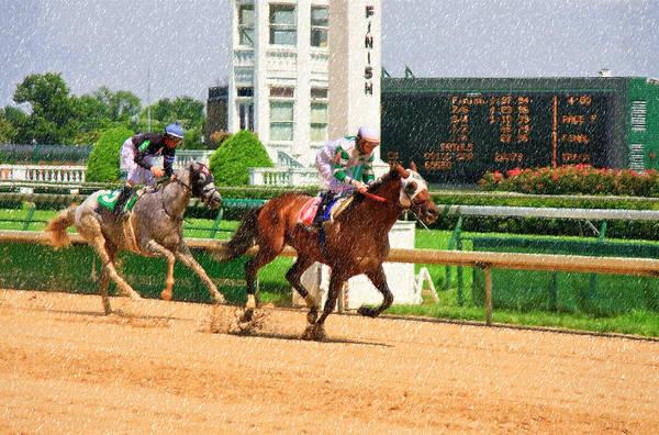 Photograph - Horse Racing At Churchill Downs by Jill Lang