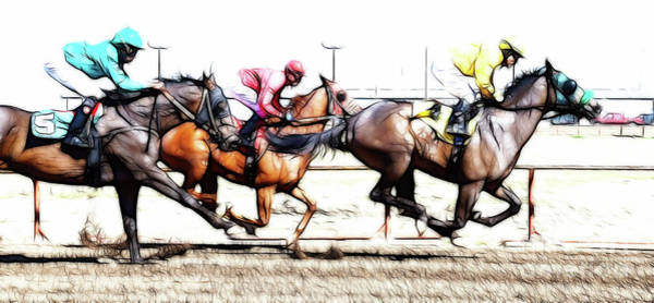 Lethbridge Photograph - Horse Racing Dreams 2 by Bob Christopher