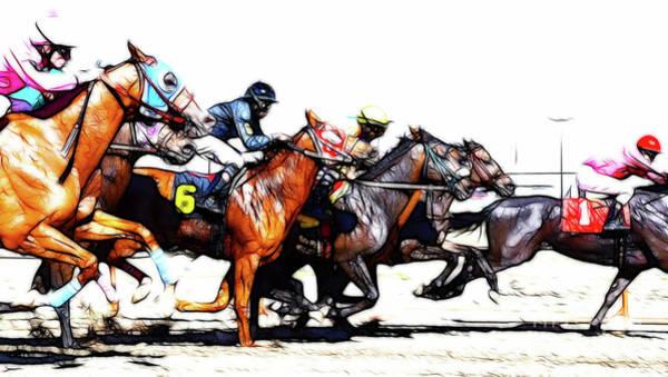 Lethbridge Photograph - Horse Racing Dreams 3 by Bob Christopher