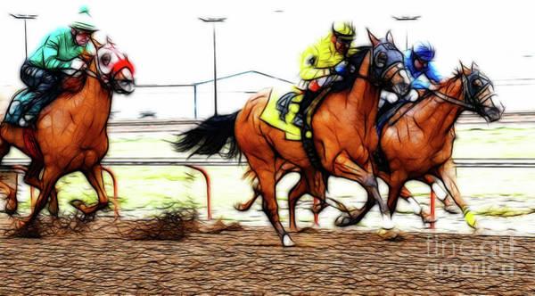 Lethbridge Photograph - Horse Racing Dreams 5 by Bob Christopher