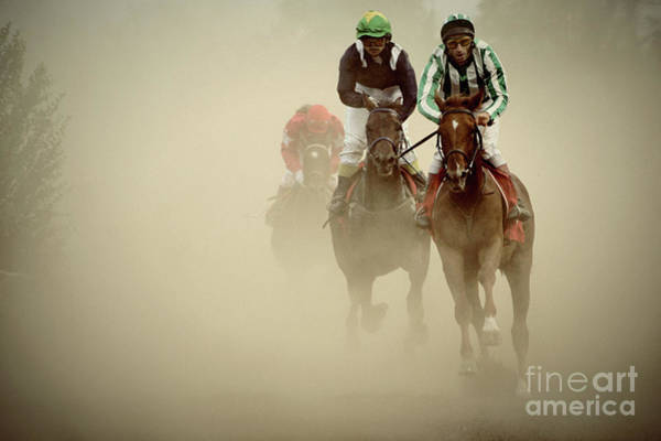 Photograph - Horse Racing In Dust by Dimitar Hristov
