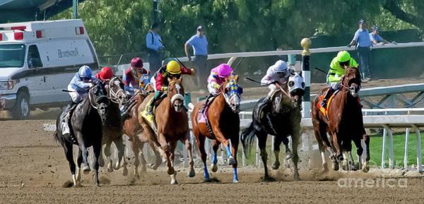 Jocky Photograph - Horse Racing by Kim Michaels