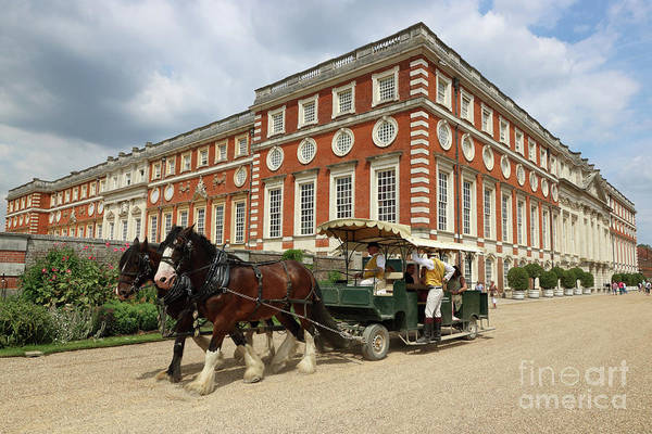 Photograph - Horse Ride At Hampton Court London by Julia Gavin