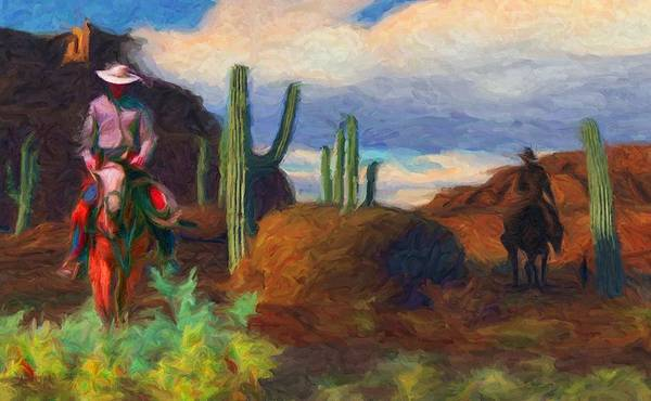 Digital Art - Horse Riders 1 by Caito Junqueira