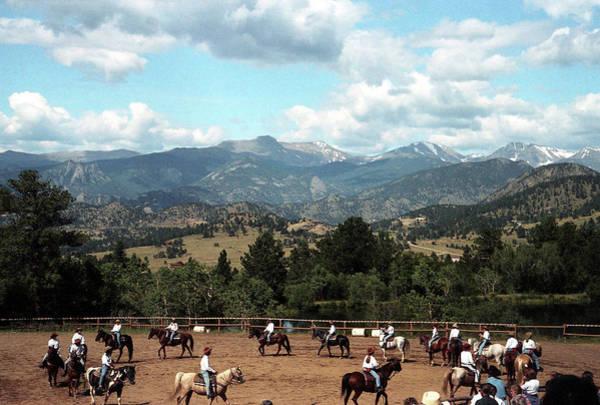 Photograph - Horse Riding In Colorado by Emanuel Tanjala