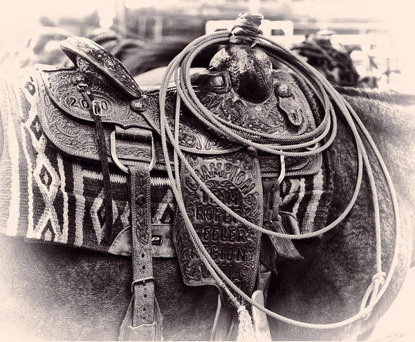 Photograph - Horse Saddle by Brian Kinney