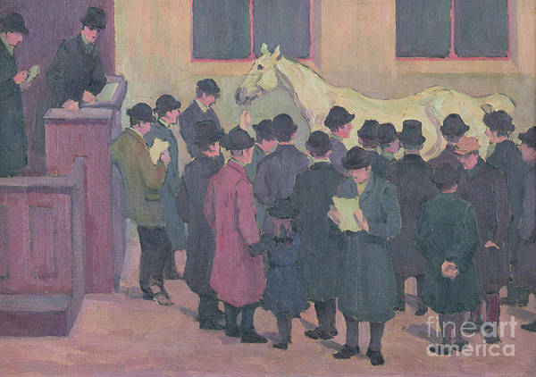 Wall Art - Painting - Horse Sale At The Barbican by Robert Polhill Bevan