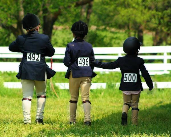 Photograph - Horse Show Friends by Angela Rath