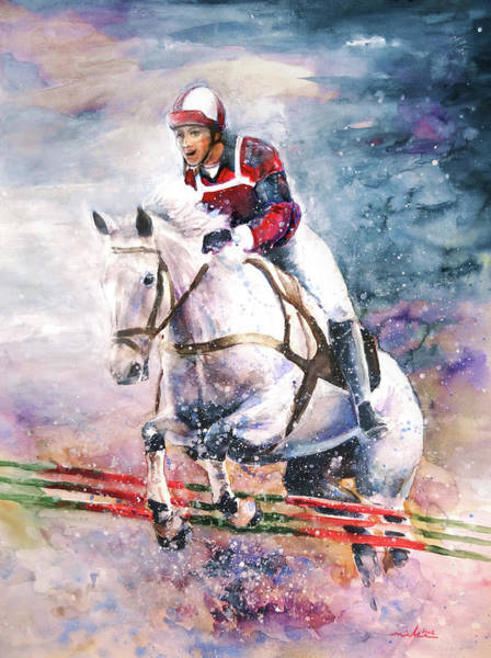 Painting - Horse Show Jumping by Miki De Goodaboom