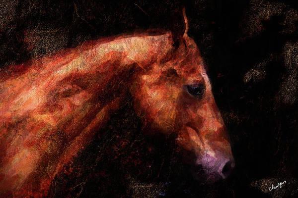 Digital Art - Horse Study #1 by Everlasting Equine Horse Art