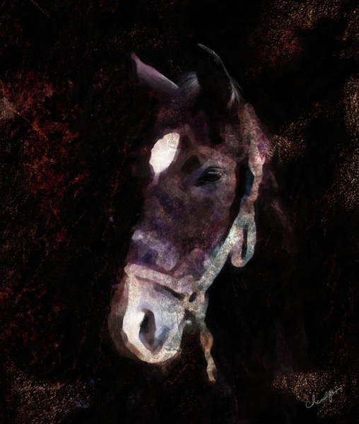 Digital Art - Horse Study #4 by Everlasting Equine Horse Art