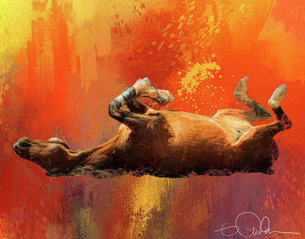 Digital Art - Horse With An Itch by Gloria Anderson