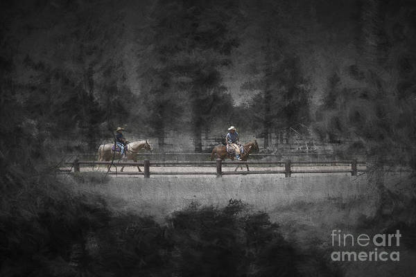 Photograph - Horseback Riding In Bryce Canyon National Park....paintography by Dan Friend