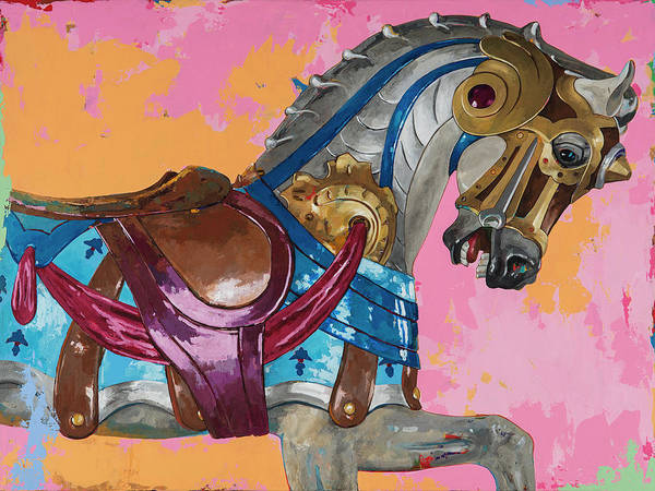 Merry Go Round Wall Art - Painting - Horses #1 by David Palmer