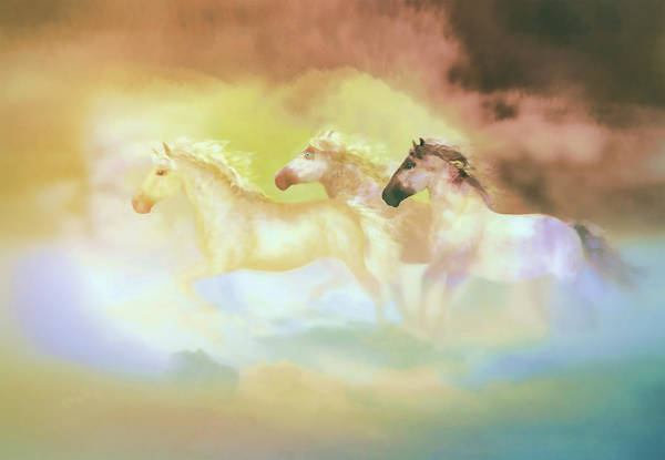 Painting - Horses In A Pearly Mist by Valerie Anne Kelly