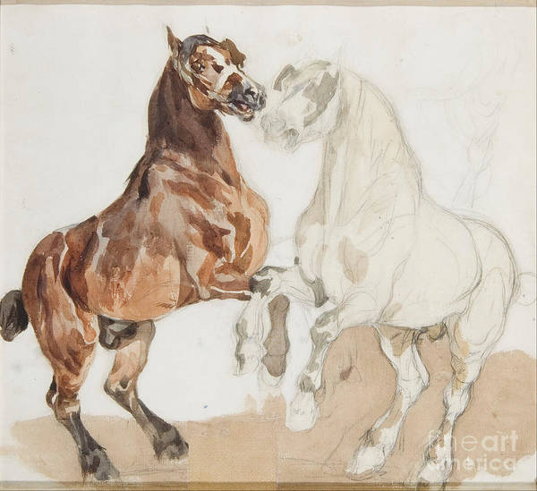 Wall Art - Painting - Horses by MotionAge Designs