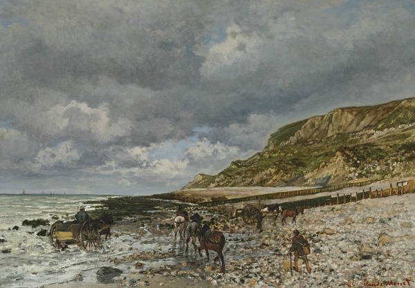 Painting - Horses On The Edge Of La Heve by Claude Monet