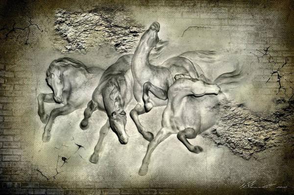 Suspense Digital Art - Horses by Svetlana Sewell