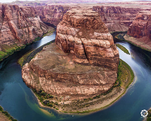 Photograph - Horseshoe Bend - Aqua by Ken Arcia