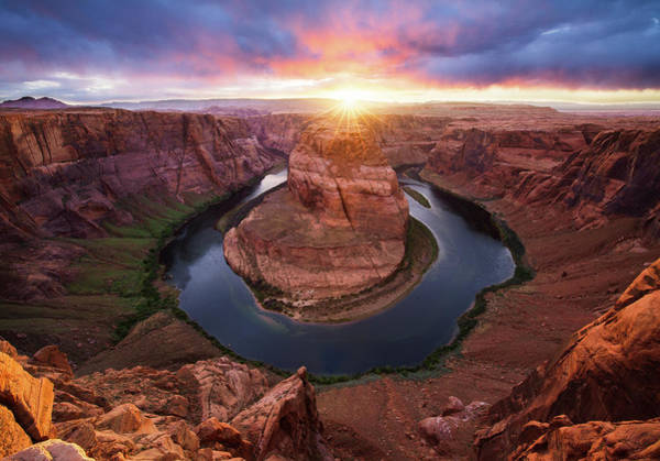 Horseshoe Bend Mega Sunset Art Print