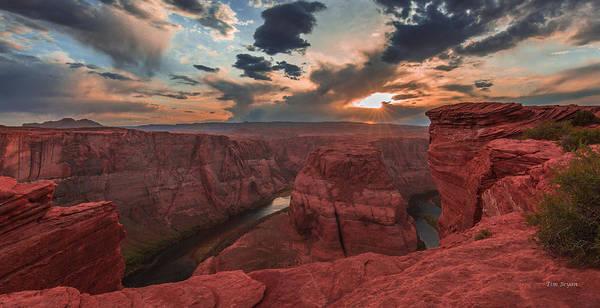 Horseshoe Bend Sunset Art Print