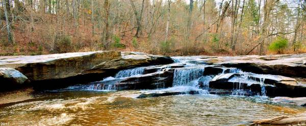 Photograph - Horseshoe Falls Musgrove Mill Historic Site Panorama by Lisa Wooten