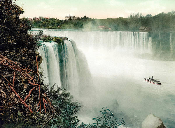 Horseshoe Falls Wall Art - Photograph - Horseshoe Falls Of Niagara - View From Goat Island by War Is Hell Store
