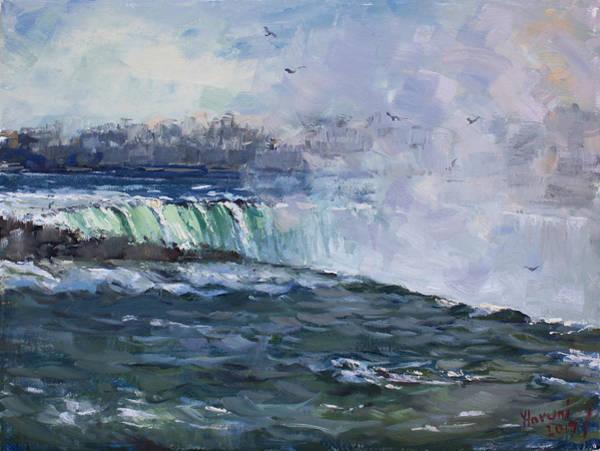 Niagara Painting - Horseshoe Falls by Ylli Haruni