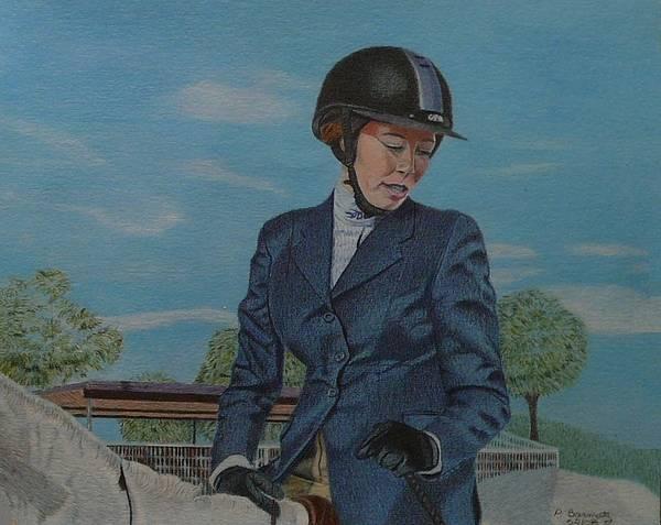 Drawing - Horseshow Day by Patricia Barmatz