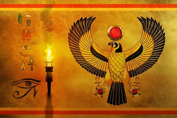 Egypt Digital Art - Horus Falcon God by John Wills
