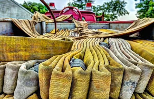 Firetruck Photograph - Hoses by JC Findley