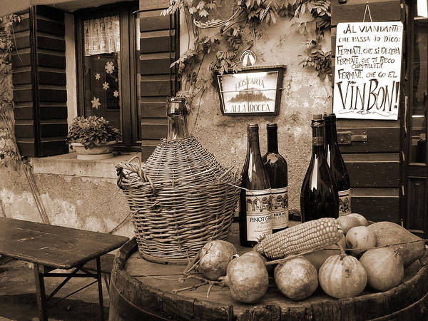 Italian Wine Photograph - Hostaria Alla Rocca by Donna Corless