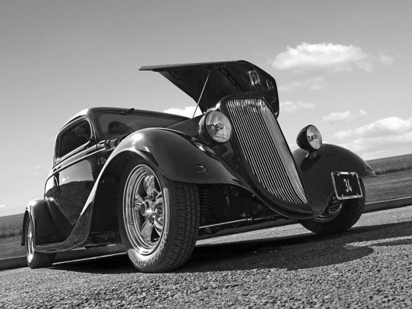 Photograph - Hot '34 In Black And White by Gill Billington
