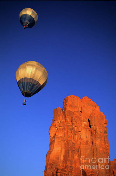 Ballons Photograph - Hot Air Balloons Monument Valley 3 by Bob Christopher