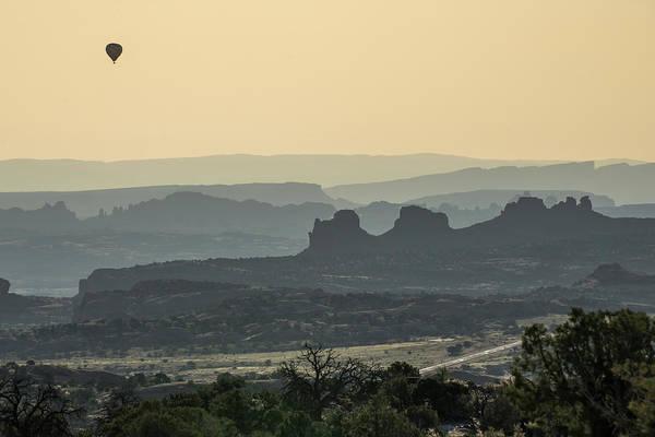 Nps Photograph - Hot Air Balloon Above Canyonlands by Gregory Ballos