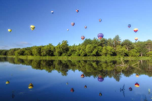 Quechee Balloon Fest Reflections Art Print
