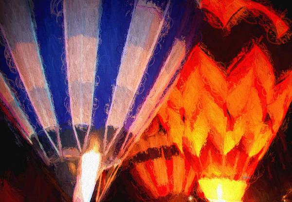 Balloon Festival Digital Art - Hot Air Balloon by Kathy Bassett